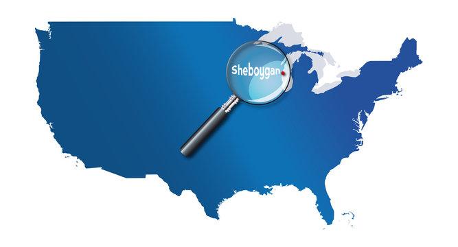 Sheboygan, Wisconsin, États-Unis, USA - localisation