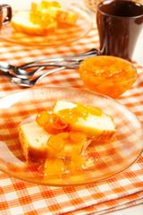 Pound Cake and Kumquat Marmalade
