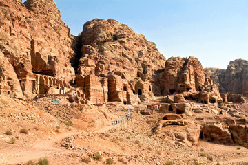 Urn Tombs in Wadi al-Farasa valley, Petra