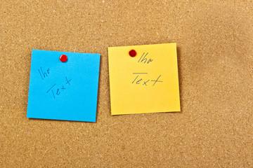 Pinnwand Notiz-Zettel