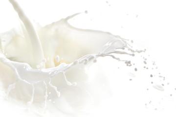 Foto op Plexiglas Milkshake milk splash