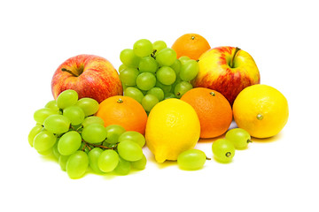 Still Life. fresh fruit on a white background.