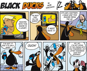 Door stickers Comics Black Ducks Comics episode 69