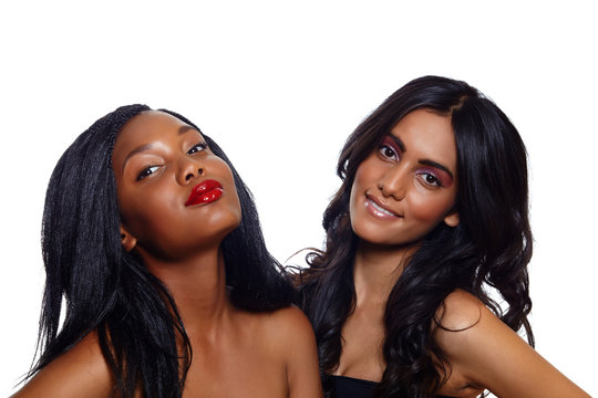 African and Indian beauty