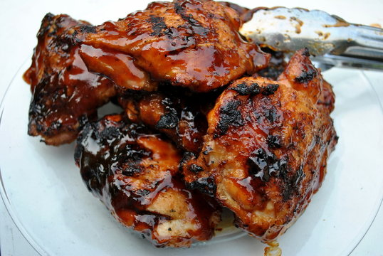 Crispy BBQ Chicken Thighs