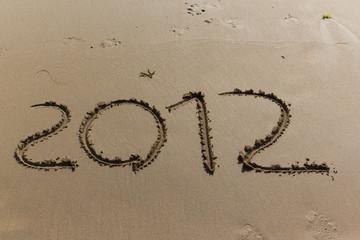 Escritura en la playa 2012