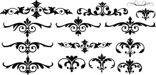 Decor Flourish Elements Divider Set