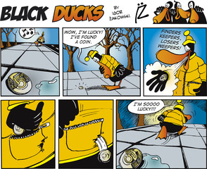 Fotorolgordijn Comics Black Ducks Comics episode 71