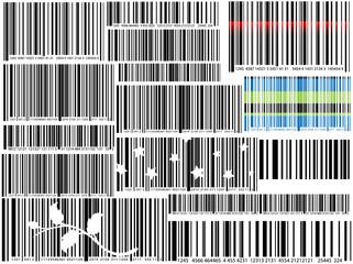 Creative Design Of Bar Codes Set