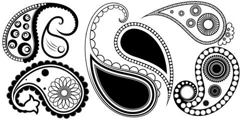 Artistic Paisley Henna Tattoos Designs