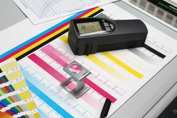 Druckbogen, Farben und Densitometer