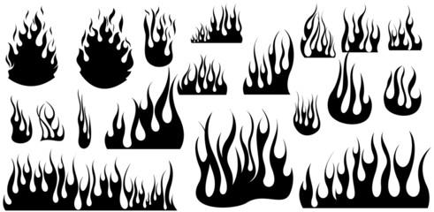 Vignette Fire Flame Illustration