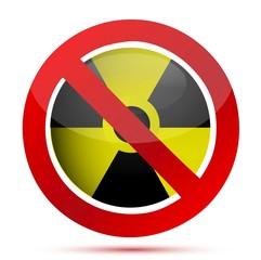 radioactive prohibition illustration concept over white