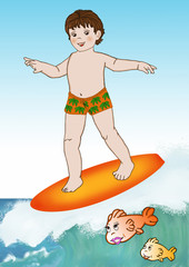Piccolo surfer