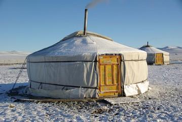 Yourte, Mongolie