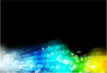 Abstract space glowing background
