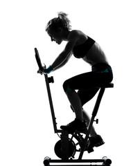 Wall Mural - woman biking workout fitness posture