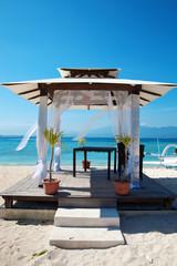 Beach weddings pavilion in Gili islands, Indonesia
