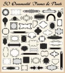 Vintage Ornamental Frames and Panels Set