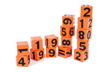 cubes with number