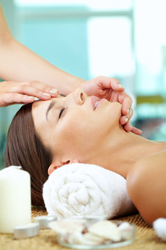 Facial at spa salon