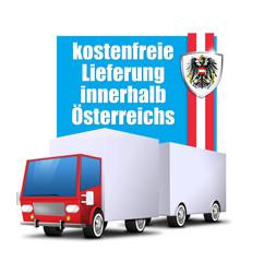 kostenfreie lieferung in österreich icon button truck
