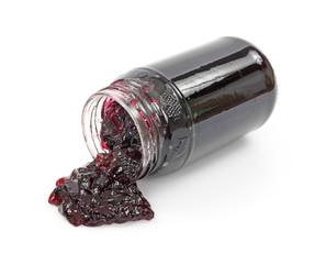Grape jelly spilling