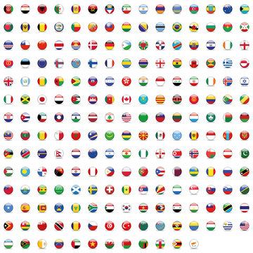 World Button Flag Mix