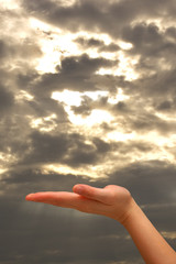 Hand showing gesture