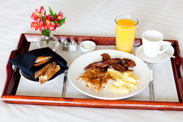 breakfast on the tray