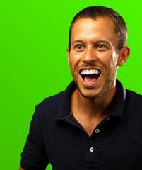man with polo shirt