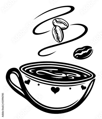 kaffee coffee kaffeetasse cafe schwarz vector. Black Bedroom Furniture Sets. Home Design Ideas