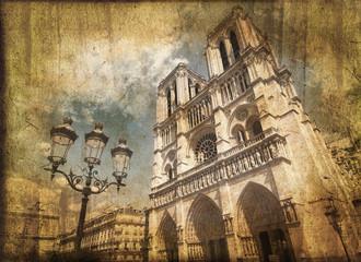 Notre Dame de Paris, style vintage - France