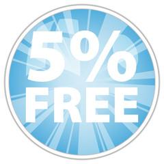 5% free label