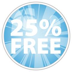 25% free label