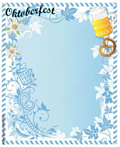 Quot Oktoberfest Ranke Edelwei 223 Brezel Hintergrund Plakat