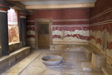 Crete Knossos throne room
