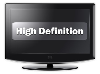 "Flatscreen TV ""High Definition"""