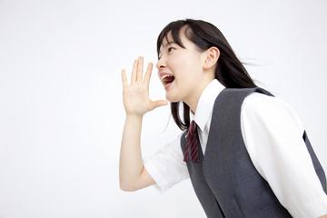 叫ぶ女子中学生