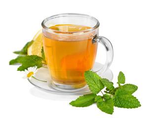 Tea,mint  and flowers