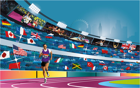 Summer Olympic games in London. 2012