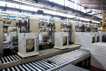 Factory: washing machine production