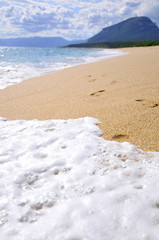 Fototapete - Spuren im Sand