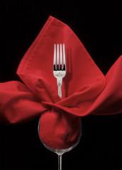 tenedor y servilleta