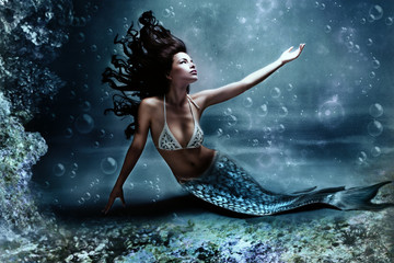 Autocollant pour porte Mermaid mermaid