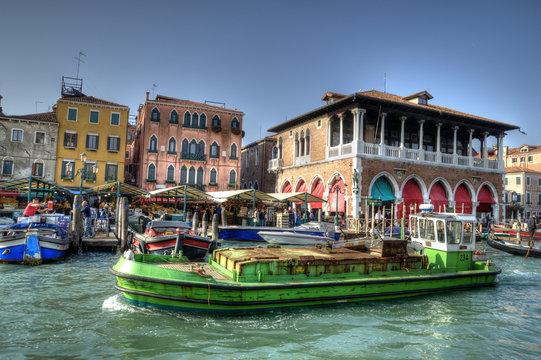 Rialto Market, Venice, Italy.