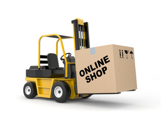 Online shop. Delivery metaphor