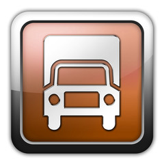 "Bronze Glossy Square Icon ""Trucks"""