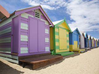 Colorful Beach Huts in Australia