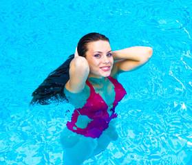by a Pool Beauty in Luxury